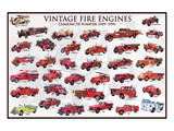Vintage Fire Engines Giclée-Premiumdruck