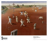 Futebol Collectable Print by Candido Portinari