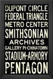 Washington DC Metro Stations Vintage RetroMetro Travel Poster Prints