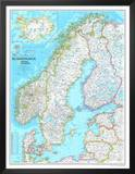 Map of Scandinavia Poster