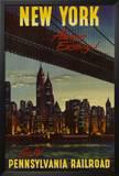 New York by Pennsylvania Railroad Prints