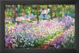 Claude Monet (Garden at Giverny) Art Print Poster Prints