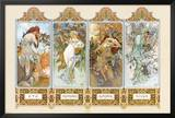 The Four Seasons Posters by Alphonse Mucha
