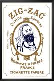 Zig Zag Cigarette Papers Advertisement Poster Prints