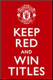 Manchester United - Keep Red Mounted Print