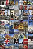 LONDON COLLAGE Mounted Print
