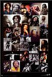 Bob Marley - Collage Mounted Print