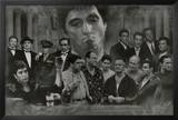 Gangsters Collage Godfather Goodfellas Scarface Sopranos Movie Poster Print Posters