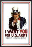 I Want You - Uncle Sam Posters