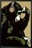 Monkey Thinker Print by  Steez