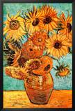 Vincent Van Gogh Vase with Twelve Sunflowers Art Print Poster Print