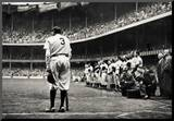 Babe Ruth Retirement New York Yankees Archival Photo Sports Poster Mounted Print