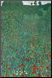 Gustav Klimt (Field of Poppies) Art Poster Print Mounted Print