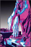 DJ Turntable Pop Art Print Poster Mounted Print