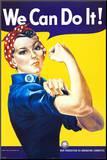 Możemy to zrobić! (niciarz Rosie) (We Can Do It! (Rosie the Riveter)) Umocowany wydruk autor J. Howard Miller