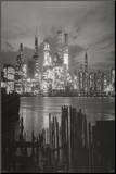 New York City at Night Skyline Art Print Poster Mounted Print