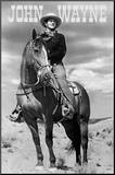 John Wayne (On Horse) Movie Poster Print Mounted Print