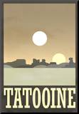 Tatooine Travel Poster Lámina montada en tabla
