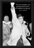 Vince Lombardi Get Back Up Quote Sports Archival Photo Poster Photo