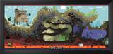 Minecraft Cross-Section Video Game Poster Prints