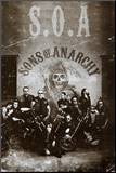 Sons of Anarchy Group TV Poster Print Mounted Print