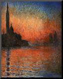 Claude Monet (Sunset in Venice) Art Poster Print Mounted Print