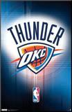 Oklahoma City Thunder Logo Mounted Print