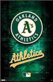 Oakland Athletics Logo Mounted Print