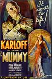 The Mummy Movie Boris Karloff, It Comes to Life Poster Print Mounted Print
