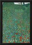 Gustav Klimt (Field of Poppies) Art Poster Print Print
