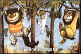 Where The Wild Things Are - Hanging From Trees Mounted Print by Maurice Sendak