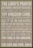 The Lord's Prayer Mounted Print