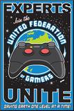 United Federation of Gamers Mounted Print