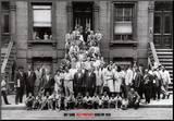 Art Kane - Jazzový portrét–Harlem, New York, 1958 Reprodukce aplikovaná na dřevěnou desku