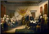 John Trumbull (Declaration of Independence) Art Poster Print Kunst op hout