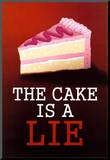 The Cake is a Lie Portal Video Game Poster Print Mounted Print
