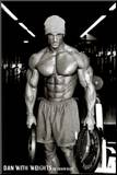 Jason Ellis Dan with Weights Art Print Poster Impressão montada