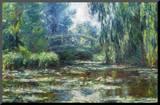 Claude Monet Water-Lilies in Monet's Garden Art Print Poster Mounted Print