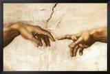 Michelangelo Creation of Adam Art Print Poster Prints