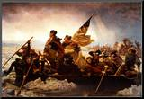 Emanuel Leutze Washington Crossing the Delaware River Art Print Poster Mounted Print