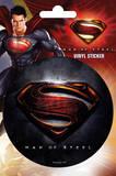 Superman Man of Steel Logo - Sticker Stickers