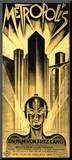 Metropolis Movie Fritz Lang Poster Print Mounted Print
