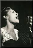 Billie Holiday Signing Archival Photo Music Poster Print Mounted Print