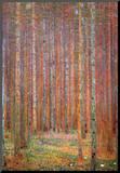 Gustav Klimt Fir Forest I Art Print Poster Umocowany wydruk