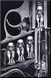 Birth Machine Kunstdruk geperst op hout van H. R. Giger