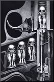 Birth Machine Mounted Print by H. R. Giger