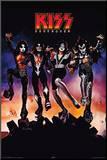 Kiss Destroyer Druck aufgezogen auf Holzplatte