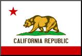 California State Flag Poster Print Mounted Print