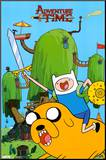Adventure Time - Finn & Jake Mounted Print