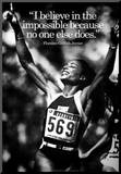 Florence Griffith-Joyner Impossible Quote iNspire Poster Mounted Print